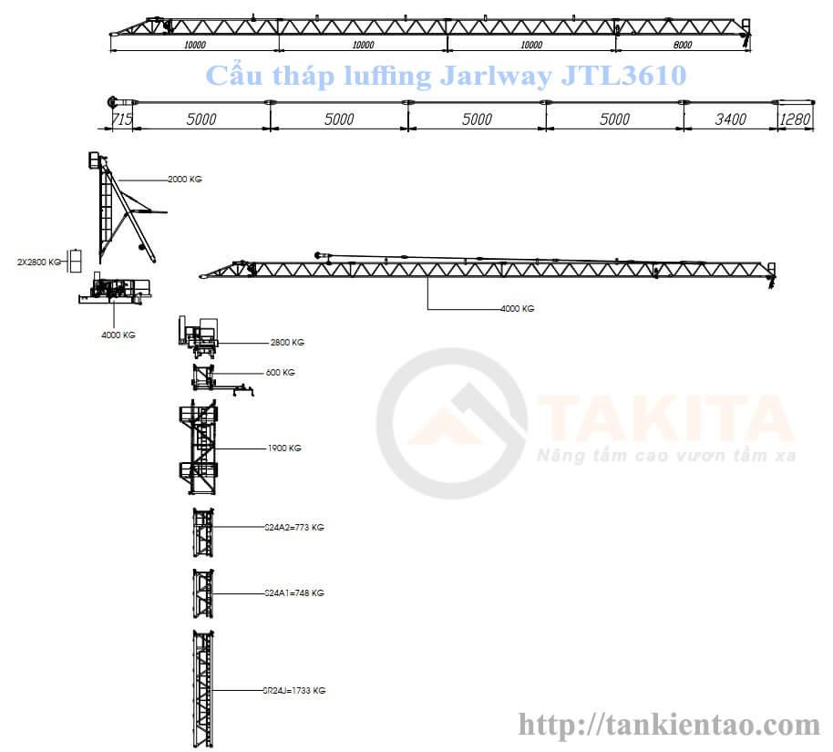 JTL3610  - Cẩu tháp gật gù