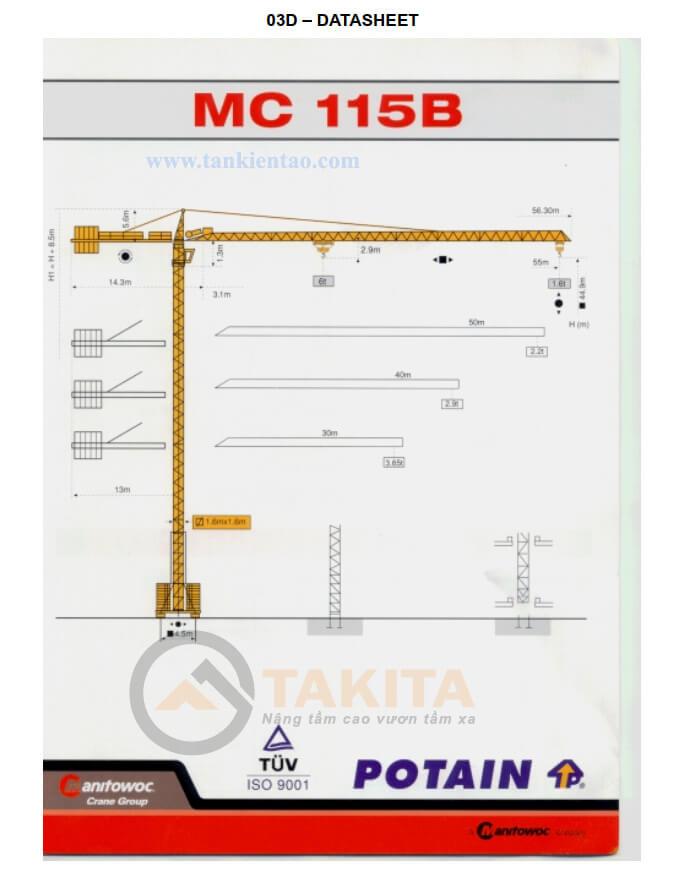 Thông số mc115 2 - Cẩu tháp Potain MC115B