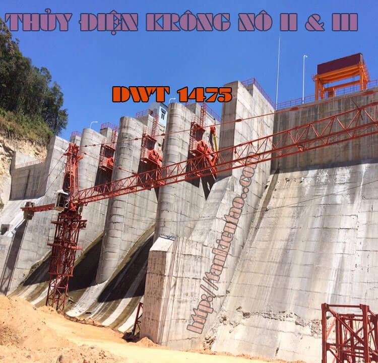 CẨU THÁP DWT 1475 - Lắp & tháo cẩu tháp Thủy điện Krông Nô II & III