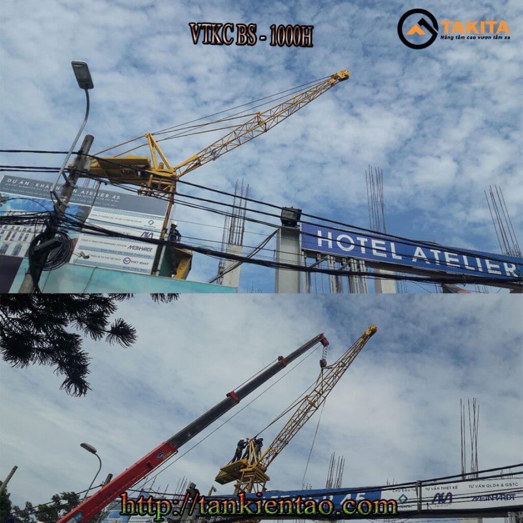 Vận thăng kèm cẩu Mini Atelier Hotel
